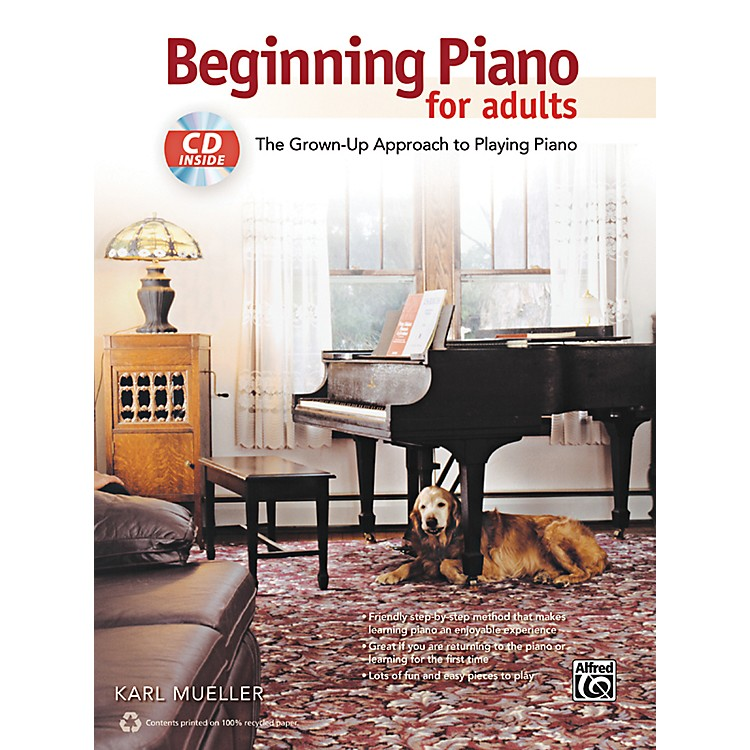 AlfredBeginning Piano for Adults Book & CD