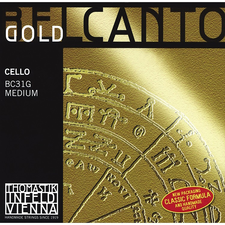 Thomastik Belcanto Cello Strings 4/4 Size Set Gold
