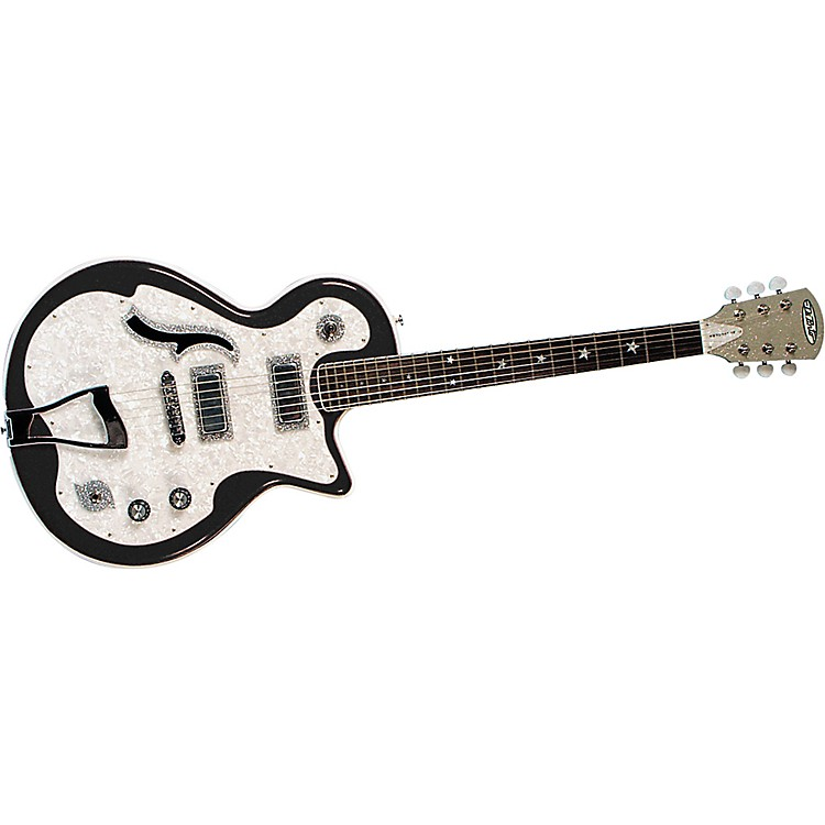 DiPinto Belvedere Deluxe Electric Guitar Black and White