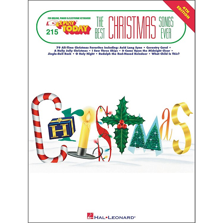 Hal LeonardBest Christmas Songs Ever 4th Edition E-Z Play 215