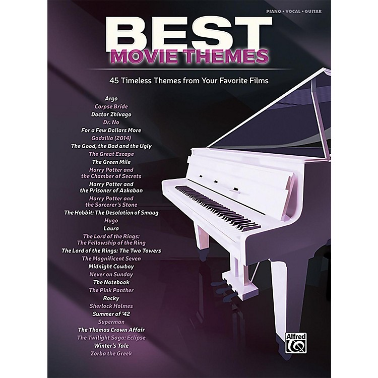 AlfredBest Movie Themes Piano/Vocal Songbook