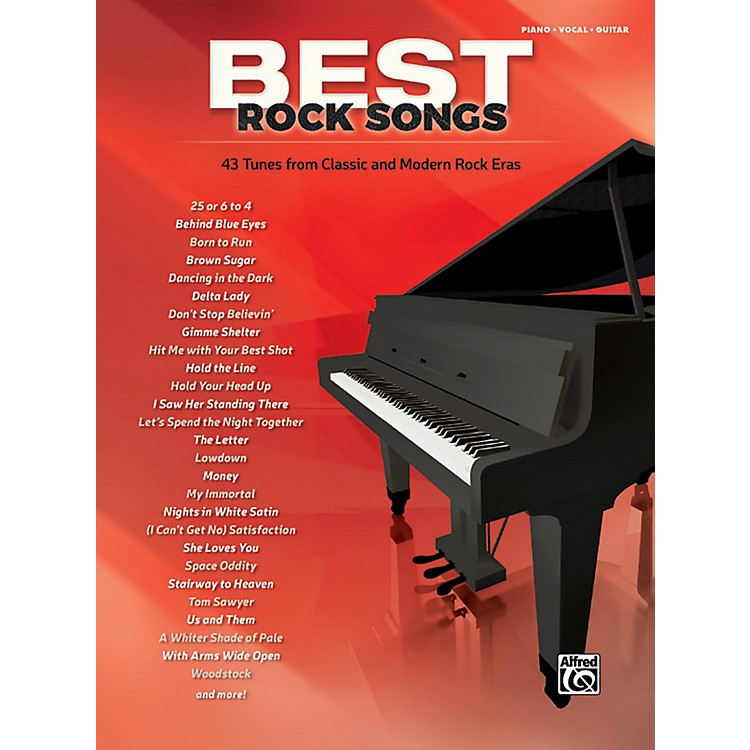 AlfredBest Rock Songs Piano/Vocal/Guitar Songbook