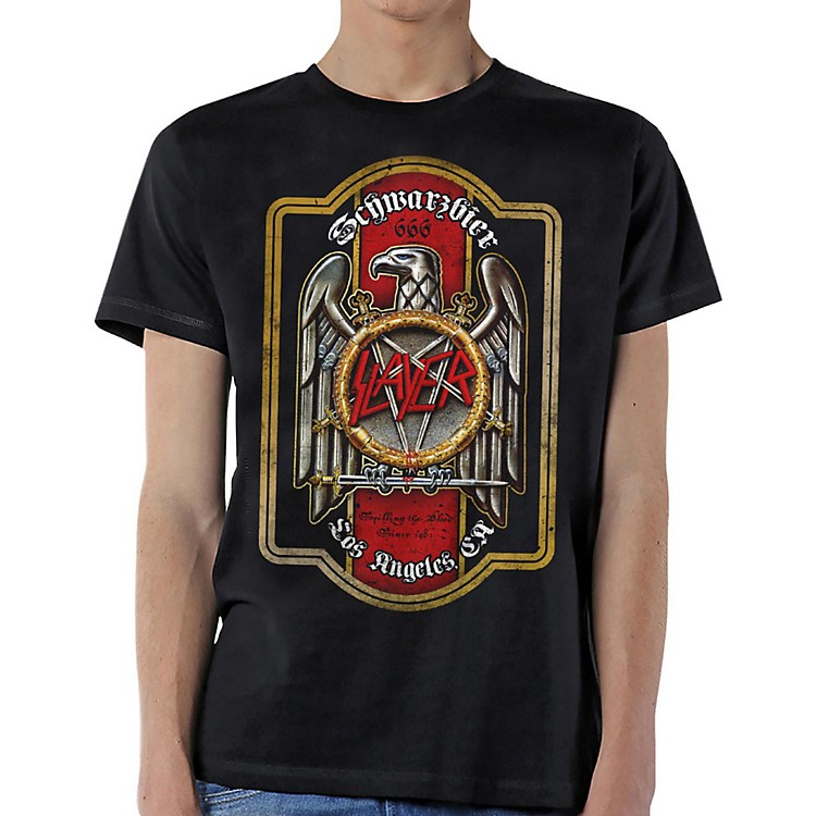 SlayerBier Label T-ShirtSmallBlack