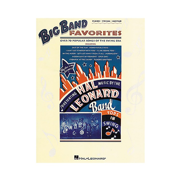 Hal Leonard Big Band Favorites Piano, Vocal, Guitar Songbook