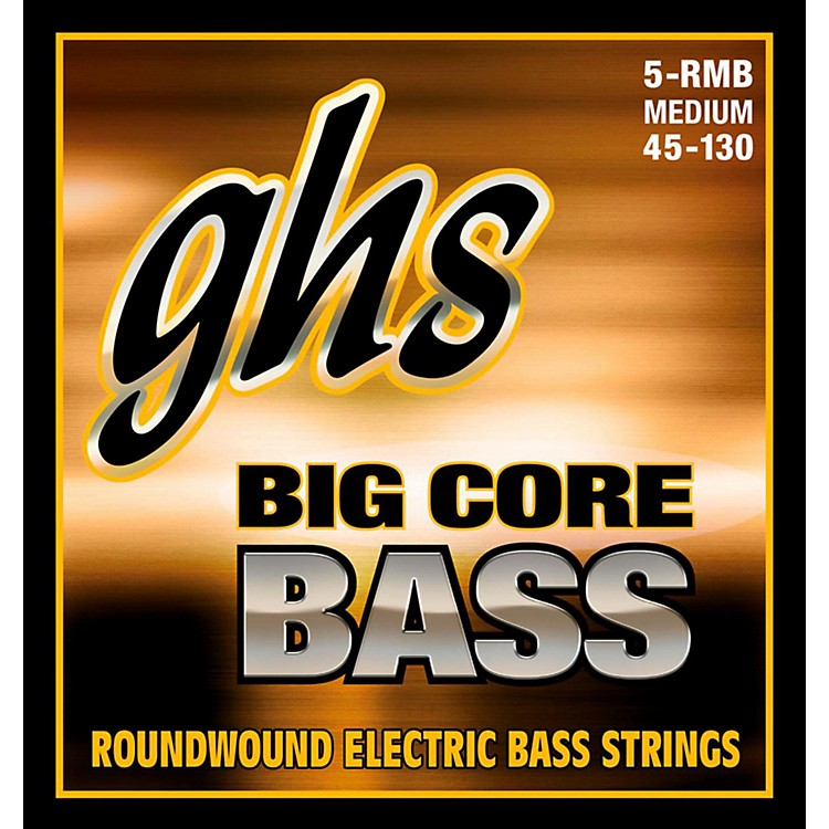 GHS Big Core 5-String Drop Tuning Bass Guitar Strings (45-130)