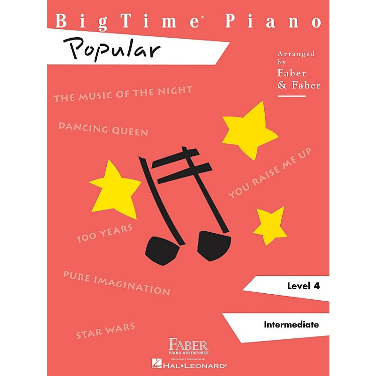 Faber Music Bigtime Piano Level 4 Popular - Faber Piano Adventures Series