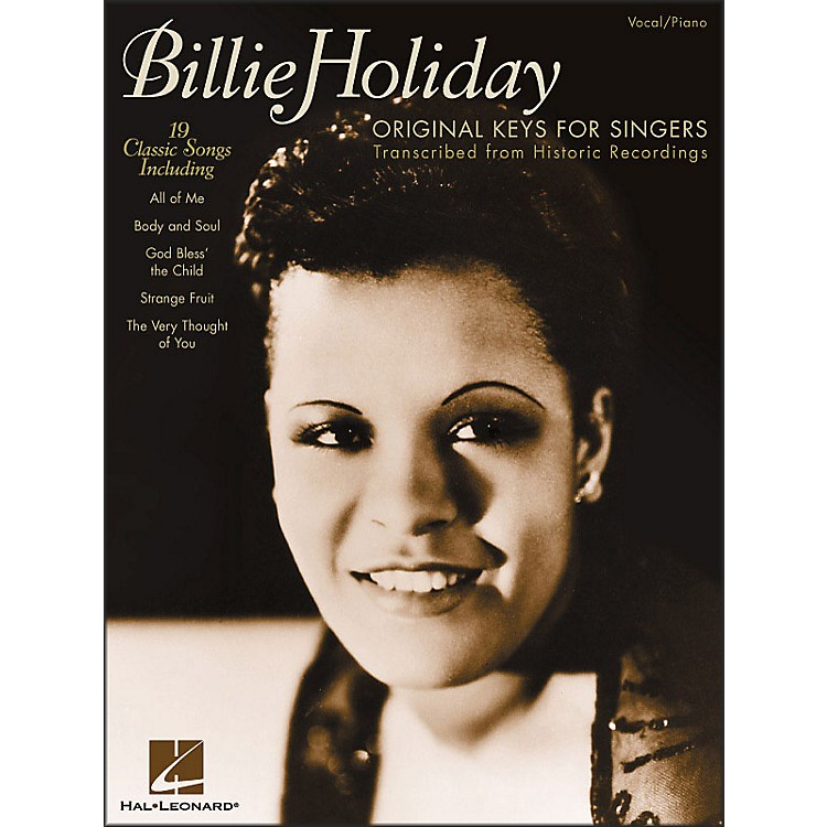 Hal Leonard Billie Holiday - Original Keys for Singers