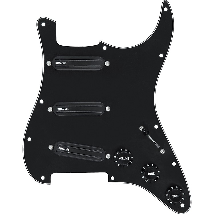 DiMarzio Billy Corgan Prewired Pickguard Black