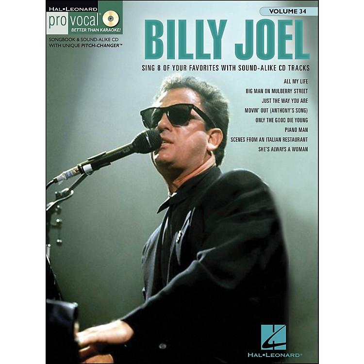 Hal LeonardBilly Joel - Pro Vocal Songbook & CD for Male Singers Volume 34