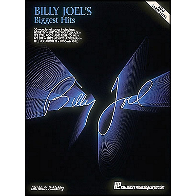 Hal Leonard Billy Joel'S Biggest Hits Alto Saxophone