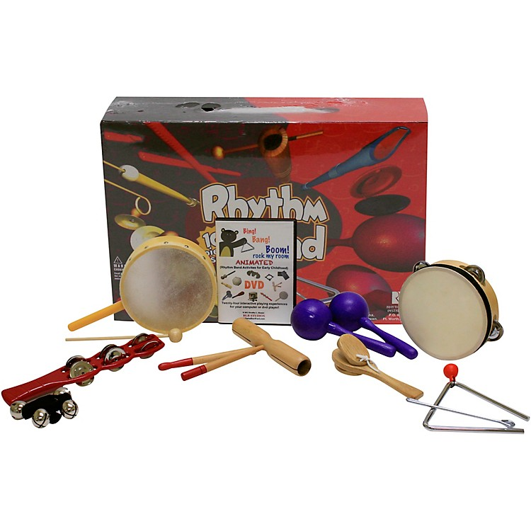 Rhythm BandBing Bang Boom 10 Player Rhythm Kit with Instructional Interactive DVD by Bradley Bonner