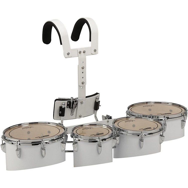 Sound Percussion LabsBirch Marching Tenor Drum with Carriers Quad with Carrier8 in.,10 in.,12 in.,13 in.White