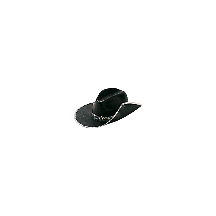 Director's Showcase Black Aussie Hat with Colored Band