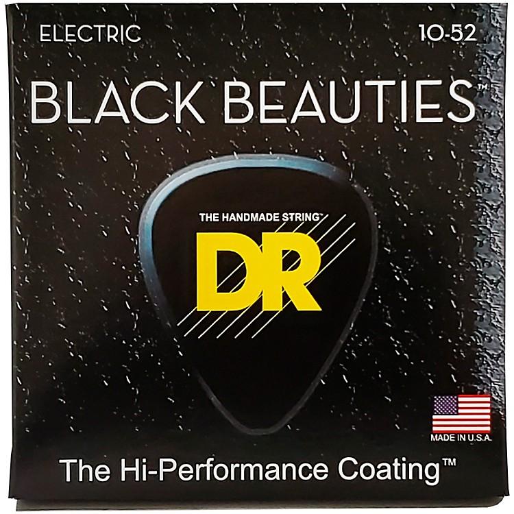 DR StringsBlack Beauties Coated Electric Strings Medium-Heavy (10-52)