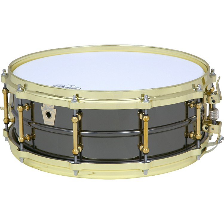 Ludwig Black Beauty Brass on Brass Snare Drum Brass 14X5 Inches