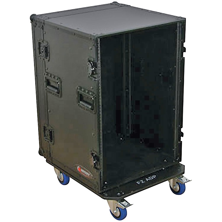 OdysseyBlack Label 16-Space Amp Rack with Wheels