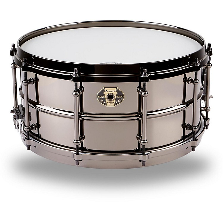 Ludwig Black Magic Snare Black 6.5X14