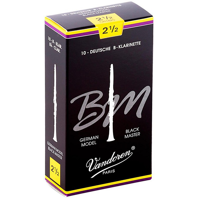 Vandoren Black Master Bb Clarinet Reeds Strength 2.5, Box of 10