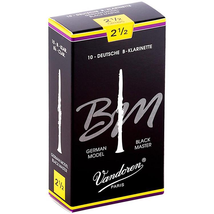 VandorenBlack Master Bb Clarinet ReedsStrength 2.5, Box of 10