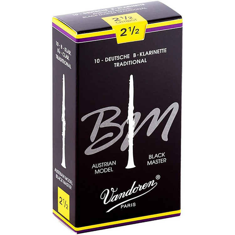 Vandoren Black Master Traditional Bb Clarinet Reeds 2.5