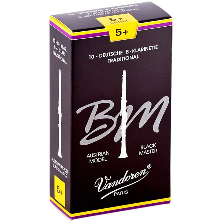 Vandoren Black Master Traditional Bb Clarinet Reeds Box of 10, Strength 5+