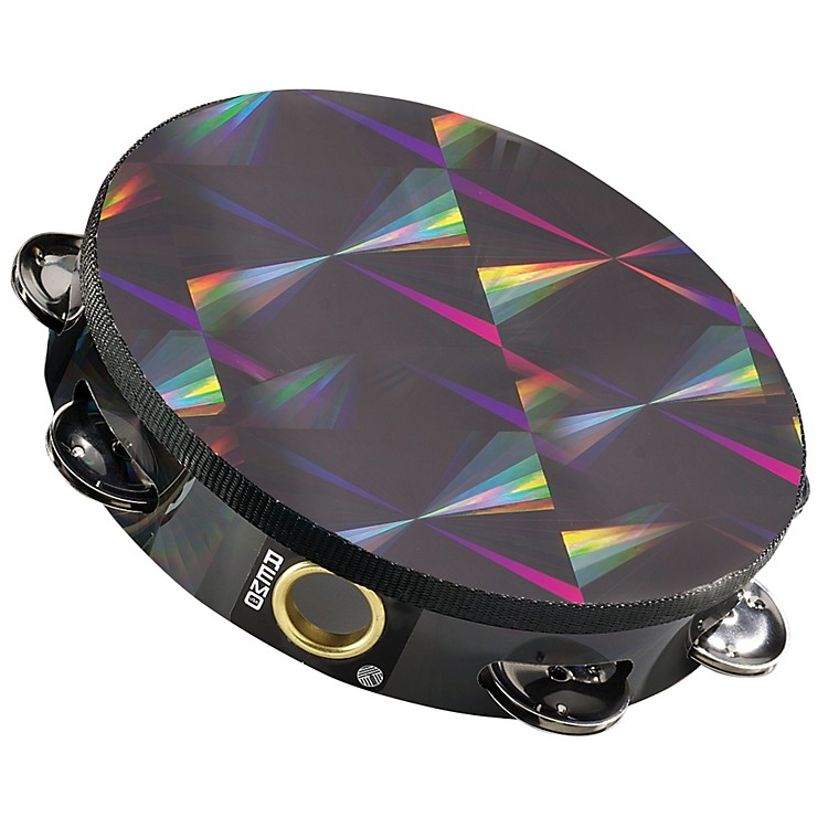 Remo Black Prizmatic Tambourine 6 in. 6 Pairs Jingles x 1 Row