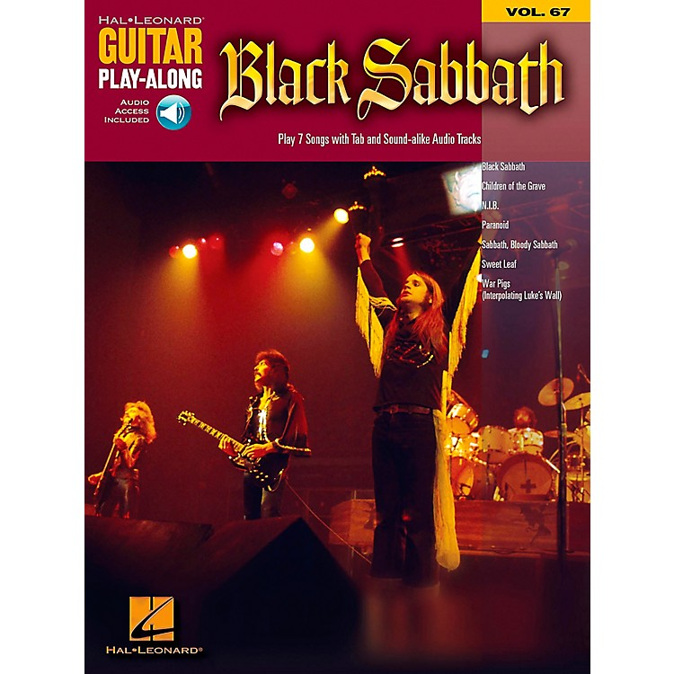 Hal Leonard Black Sabbath - Guitar Play-Along Volume 67 Book and CD