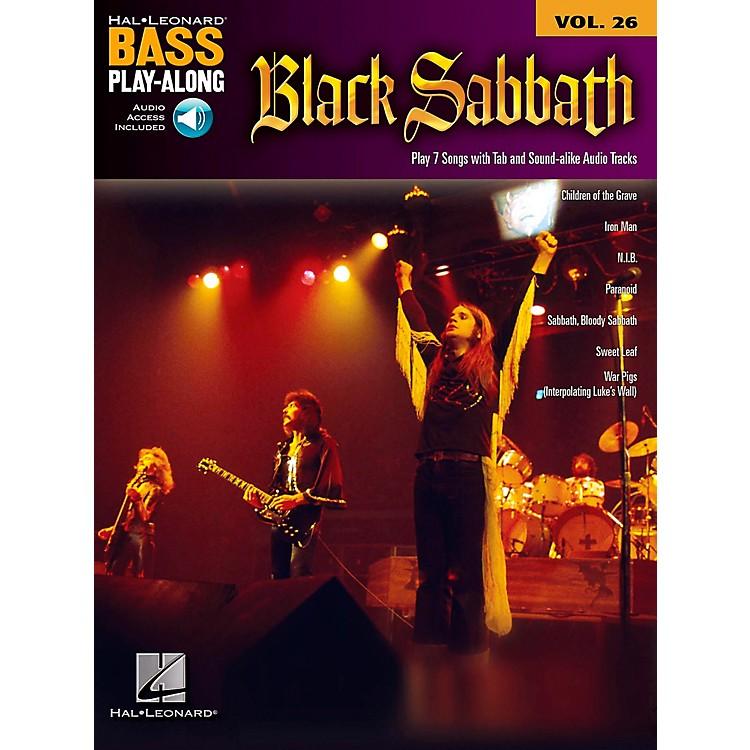 Hal LeonardBlack Sabbath Bass Play-Along Volume 26 Book/CD