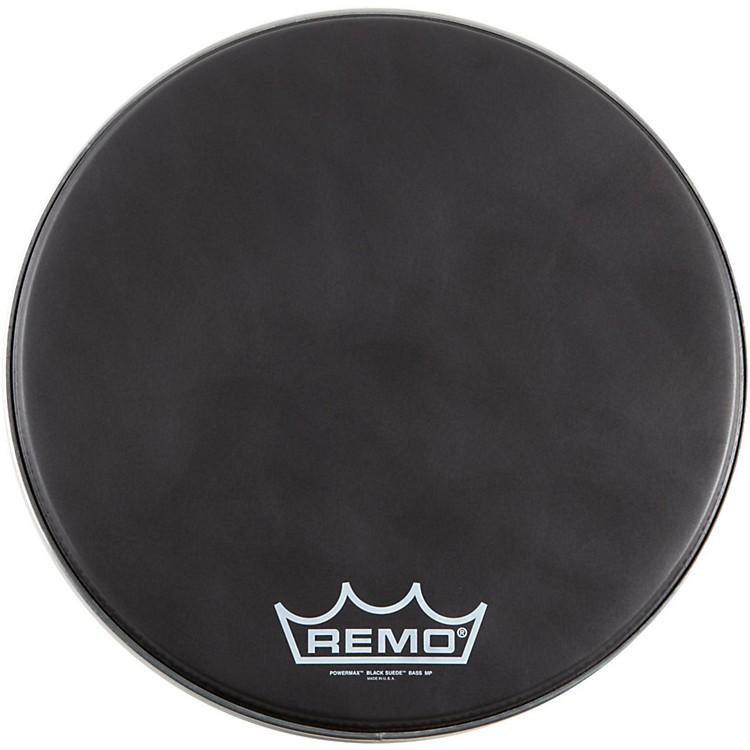 RemoBlack Suede PowerMax Series Bass Drumhead with CrimplockMatte Black14