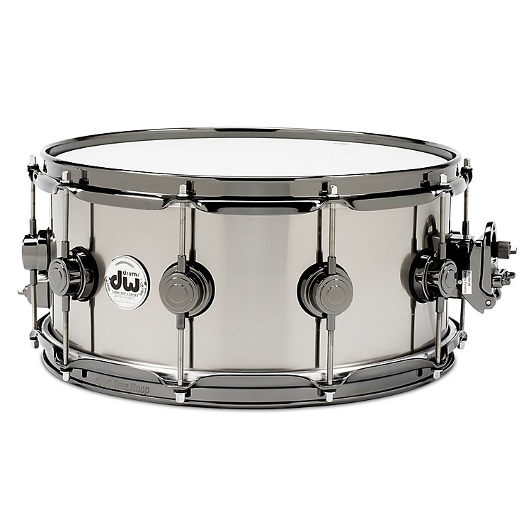 DW Black-Ti Snare Drum 14 x 6.5 in. Black Nickel Hardware