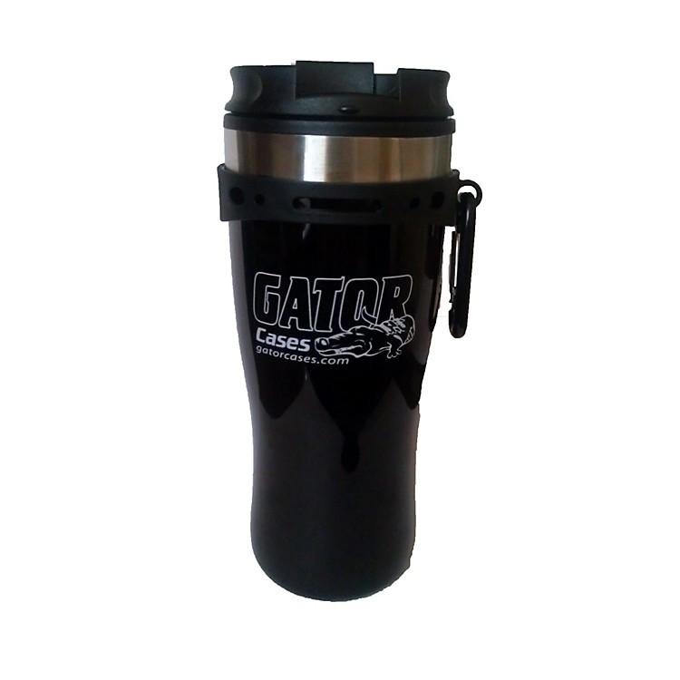 GatorBlack Travel Mug with Black and White Gator Cases Logo
