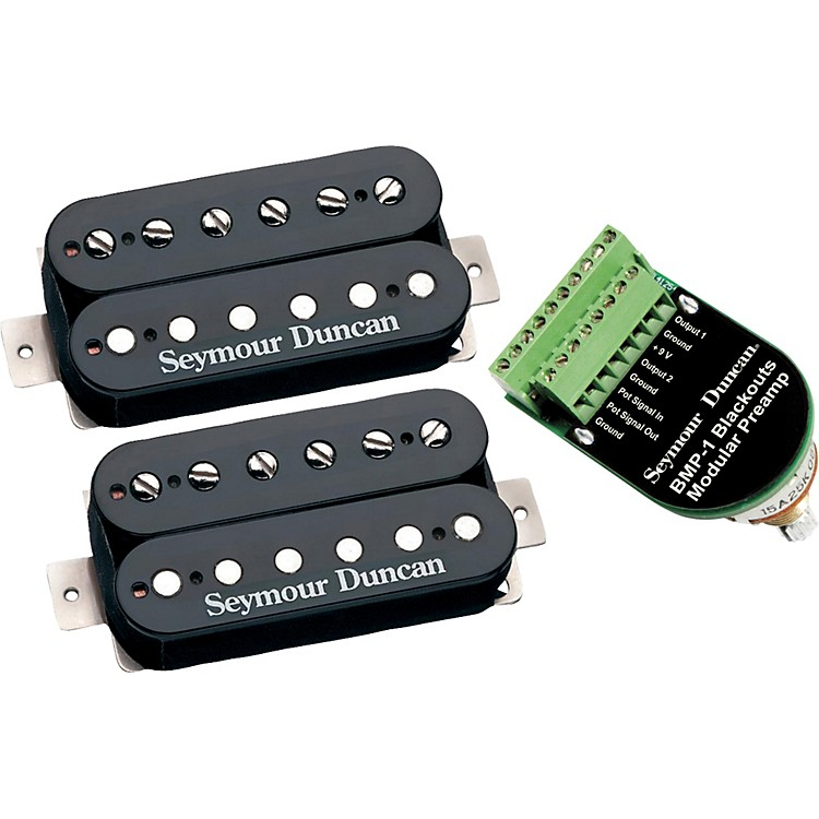 Seymour Duncan Blackouts Modular Coil Pack/Preamp Set Black
