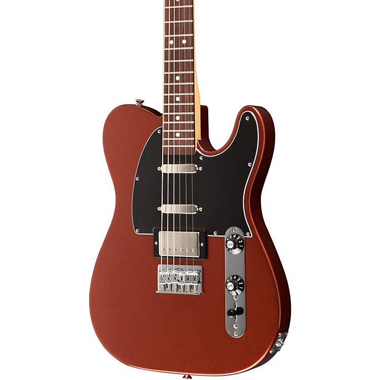 Fender Blacktop Baritone Telecaster Electric Guitar Classic Copper Rosewood Fingerboard