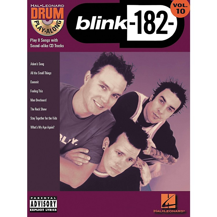 Hal Leonard Blink 182 Drum Play-Along Series Volume 10 (Book/CD)