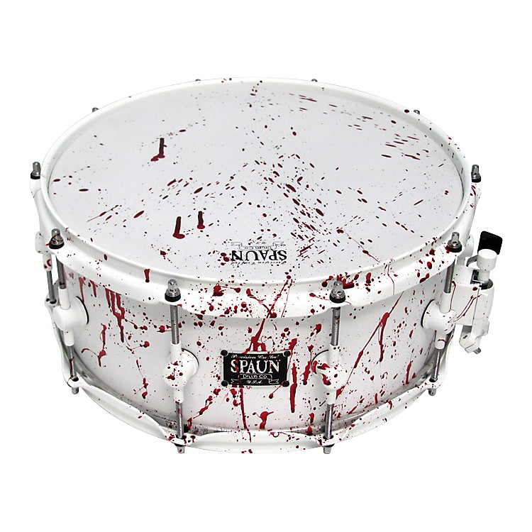SpaunBlood Spatter Maple Snare Drum6 x 14