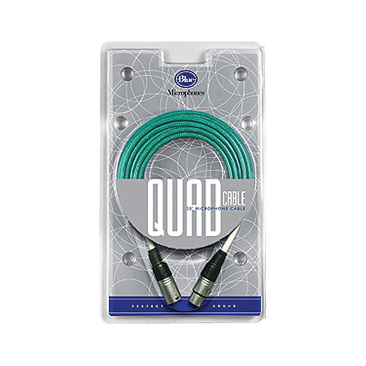 BLUE Blue 20 foot Quad Microphone Cable Blue 20 ft.