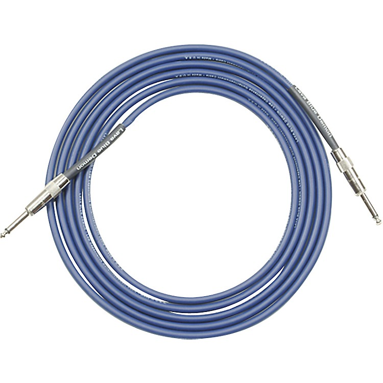 Lava Blue Demon Instrument Cable Straight to Straight Blue 30 ft.