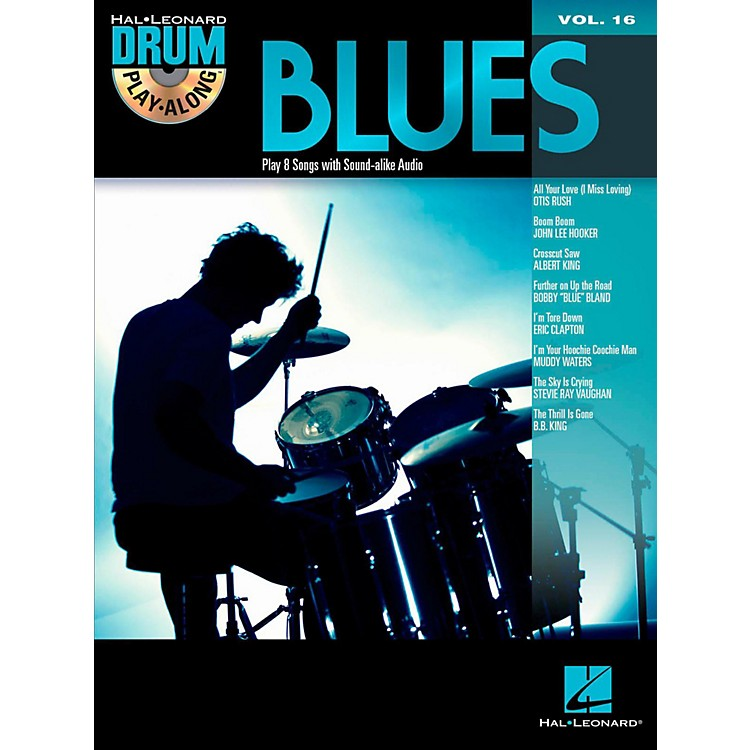 Hal Leonard Blues - Drum Play-Along Volume 16 Book/CD