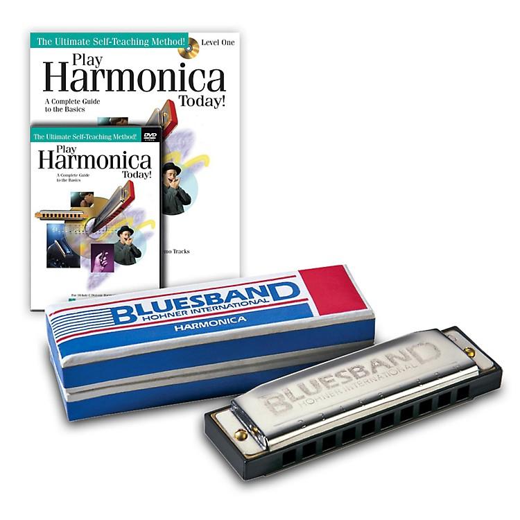 Hohner&nbsp;Blues Band 1501 C Harmonica and <em>Play Harmonica Today!</em> Pack Kit&nbsp;&nbsp;C