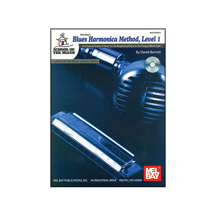 Mel Bay Blues Harmonica Method, Level 1 Book and CD