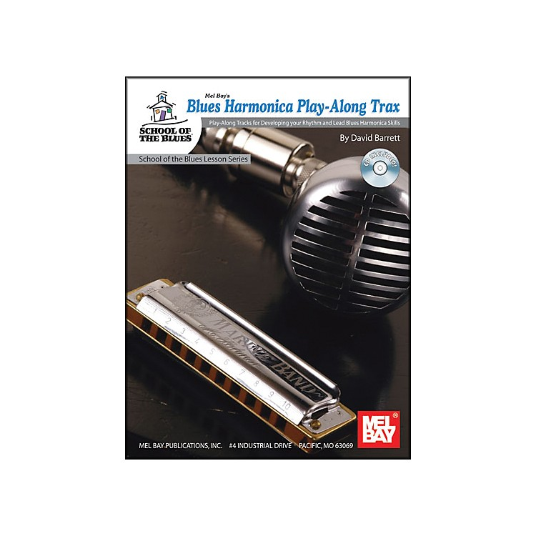 Mel Bay Blues Harmonica Play-Along Trax Book and CD