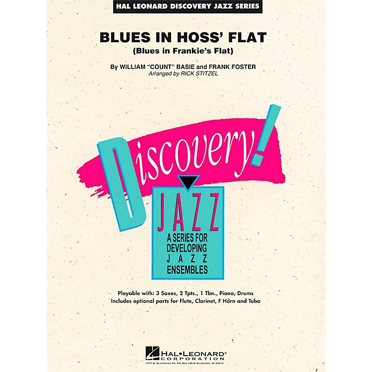 Hal Leonard Blues In Hoss Flat - Discovery Jazz Level 1.5