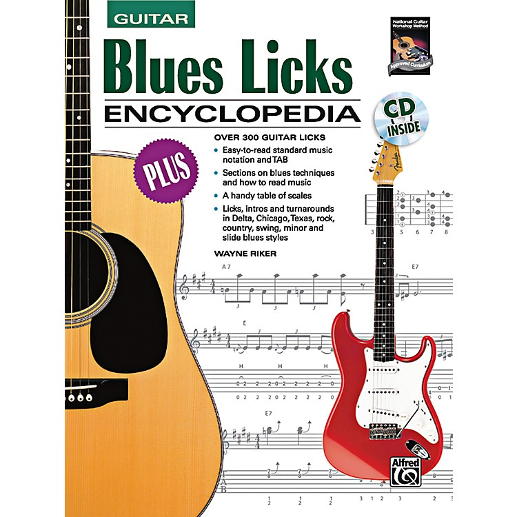 Alfred Blues Licks Encyclopedia Book & CD