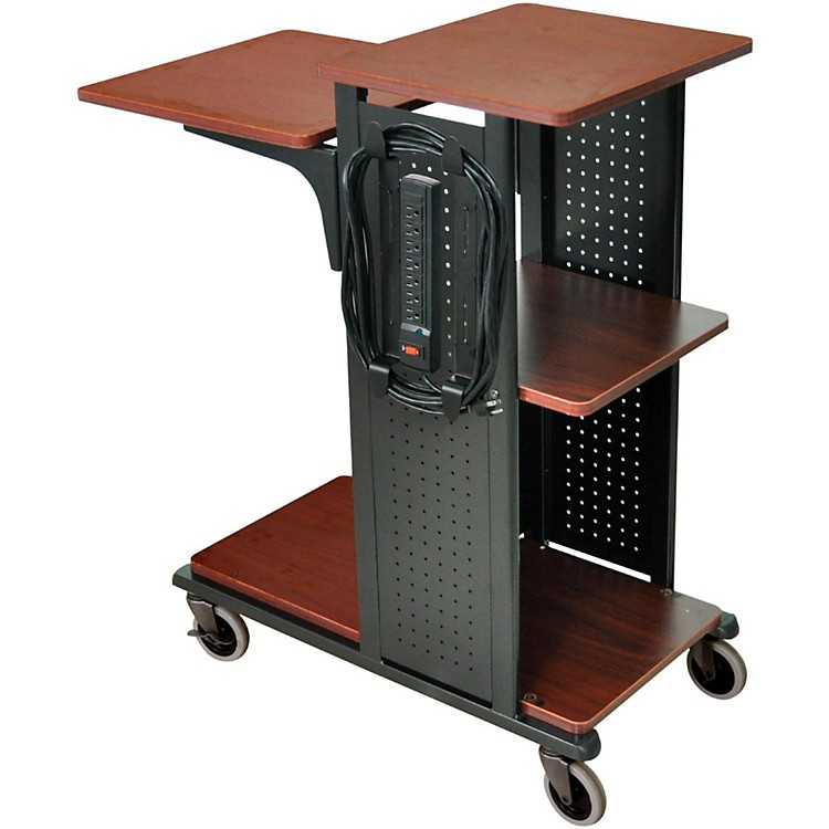 H. WilsonBoardroom Presentation Station with 7 outlet electrical assemblyBlack CherryMedium