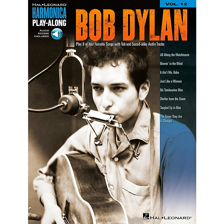 Music SalesBob Dylan - Harmonica Play-Along Volume 12 Book/CD