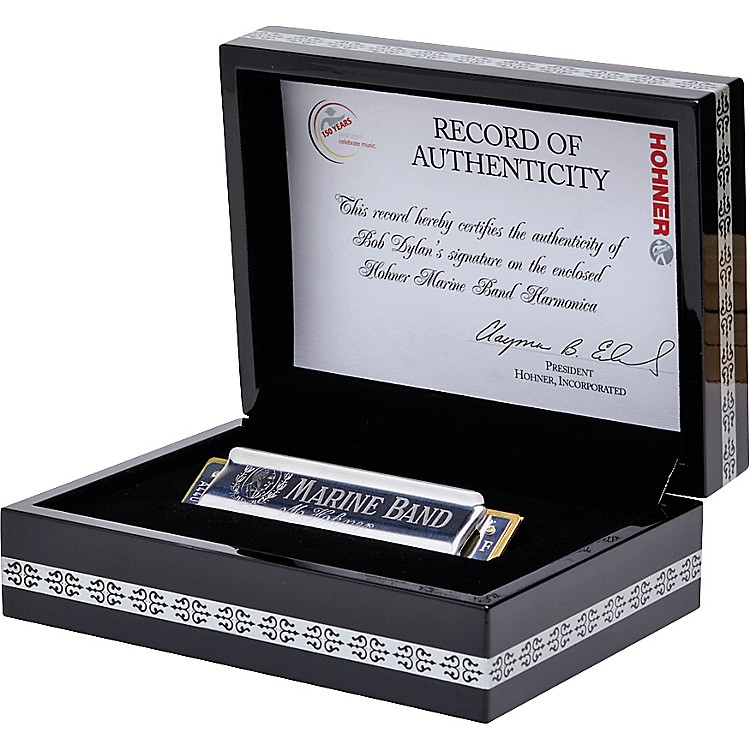 Hohner Bob Dylan Hand-Signed Single Key Harmonica - Key of C