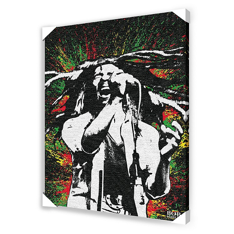 Ace Framing Bob Marley Paint Splash Framed Artwork