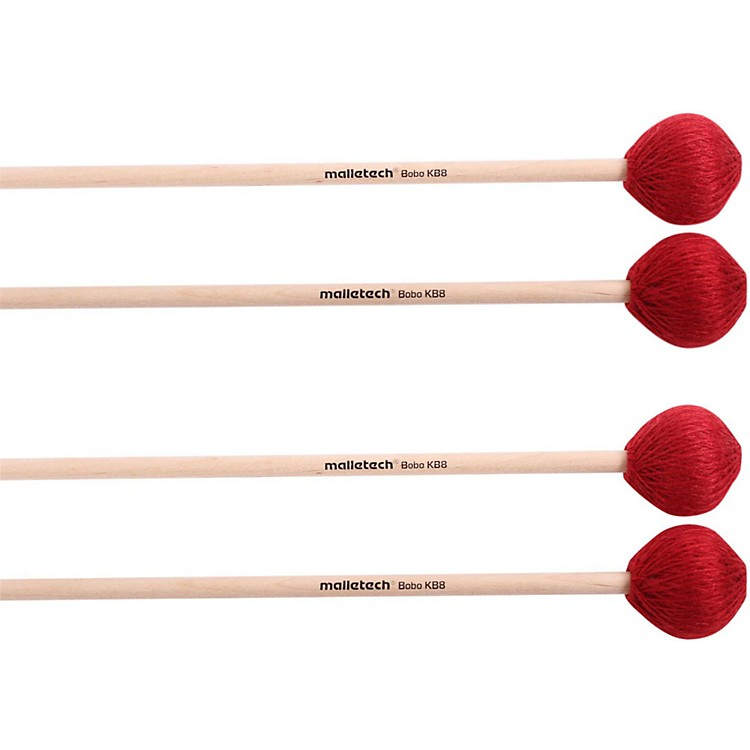 Malletech Bobo Marimba Mallets Set of 4 (2 Matched Pairs) 8