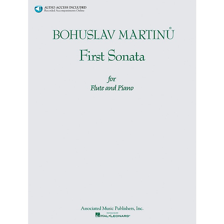 Associated Bohuslav Martinu First Sonata for Flute and Piano Book/CD