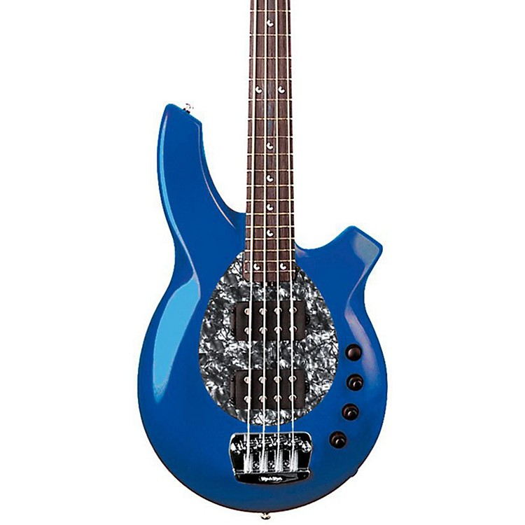 Ernie Ball Music Man Bongo 4-String Bass with 2 Humbucker Pickups Blue Pearl